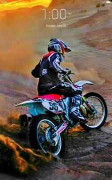 Motocross extreme ride 4K lock screen apk screenshot