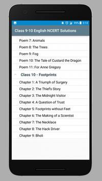 Class 9-10 English NCERT Solutions screenshot 1