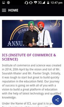 ICS Institute Of Commerce And Science apk screenshot