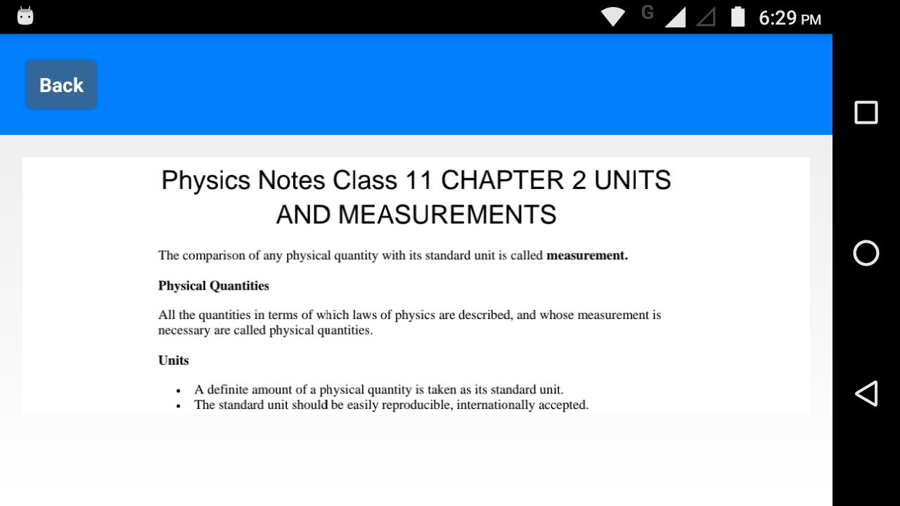 Class 11 Physics Notes for Android - APK Download