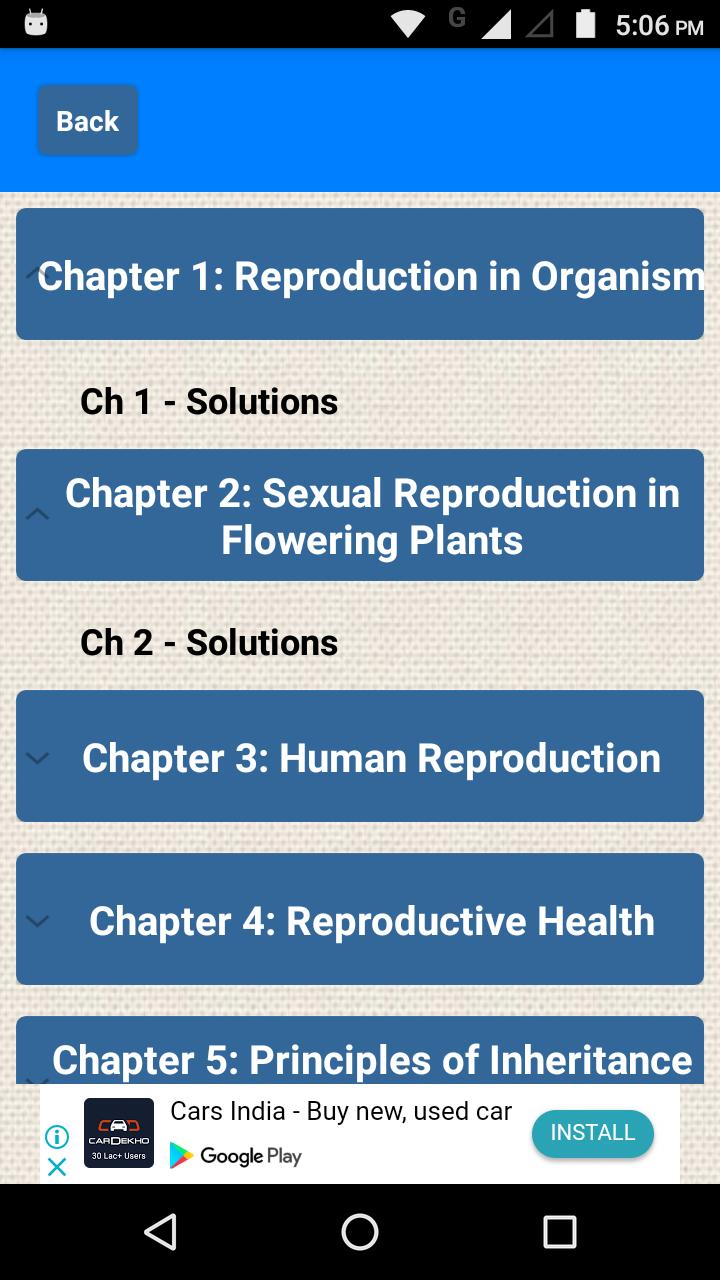 Class 12 Biology NCERT Solutions for Android - APK Download