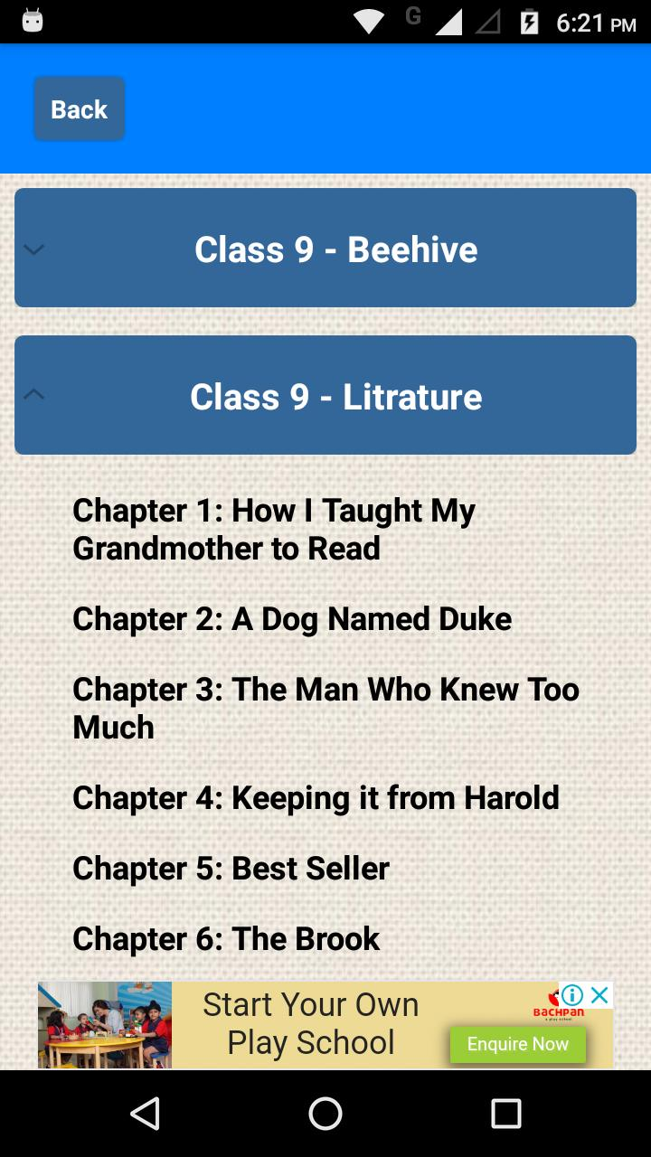 Class 9-10 English NCERT Solutions for Android - APK Download