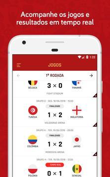 Copa do Mundo Rússia 2018 - Jogos, tabela e mais screenshot 1