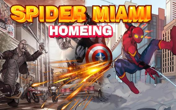 Spider Miami Homeing poster