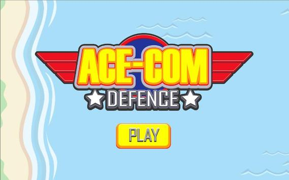 Ace-Com Defence: One Tap Tower Defense poster
