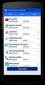 Pro RAM Booster Fast Cleaner apk screenshot