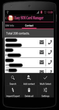 Easy SIM Card Manager apk screenshot