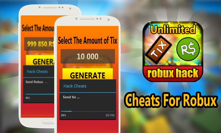 Roblox Cheats Free Robux Cheats Free Robux And Tix For Roblox Prank For Android Apk Download