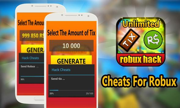 Download Cheats Free Robux And Tix For Roblox Prank Apk For