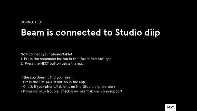 Beam WiFi Setup screenshot 4