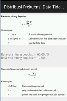 Belajar Statistik Preview apk screenshot