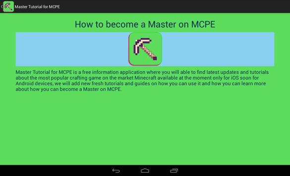 Master Tutorial for MCPE screenshot 7