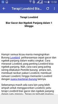 Kicau Master LoveBird screenshot 3