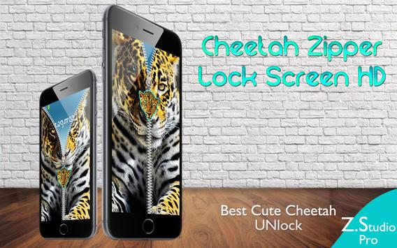 Cheetah Leopard Zipper screenshot 1