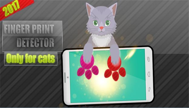 cat paw print detector poster