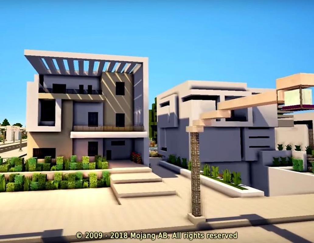 Minecraft casa moderna mod for android apk download for Casa moderna 9 mirote y blancana