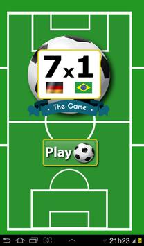 7-1 The Game Brazil x Germany poster