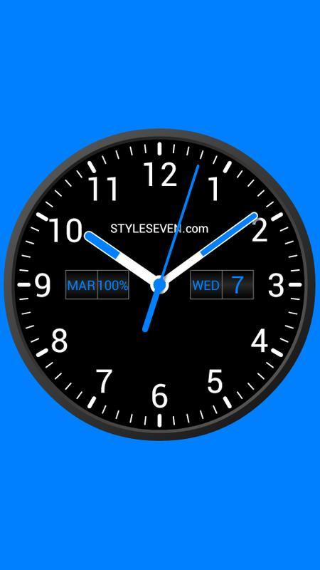 analog clock widget plus 7 para android apk baixar. Black Bedroom Furniture Sets. Home Design Ideas