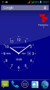 Analog Clock Live Wallpaper-7 apk screenshot
