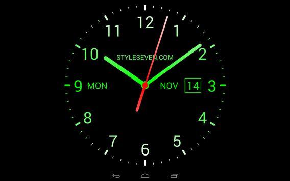 Analog Clock Live Wallpaper 7 Apk Screenshot
