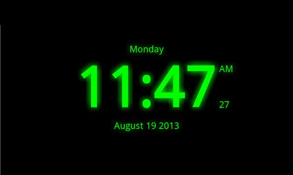 Digital Clock Live Wallpaper 7 Apk Screenshot