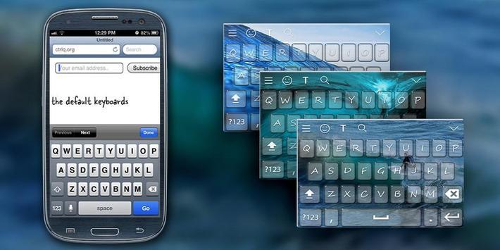WaterWave Keyboard Theme poster