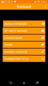 Lamp Keyboard Theme screenshot 1