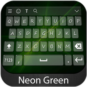 Neon Green Keyboard Them icon