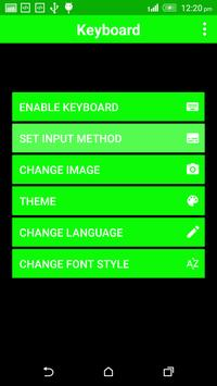 Neon Green Keyboard Them screenshot 1