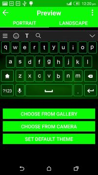 Neon Green Keyboard Them screenshot 2