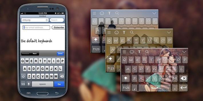 RomenticLove Keyboard Theme poster