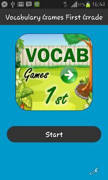 Vocabulary Games First Grade poster
