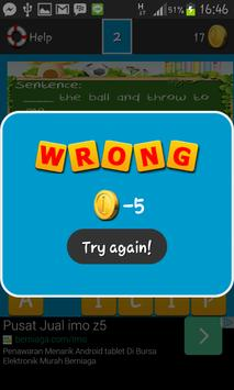 Vocabulary Games First Grade apk screenshot