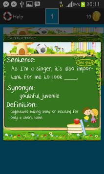 Vocabulary Games Second Grade apk screenshot