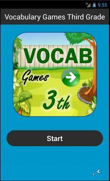 Vocabulary Games Third Grade poster