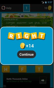 Vocabulary Games Third Grade apk screenshot