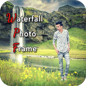 Waterfall Photo Frame-icoon