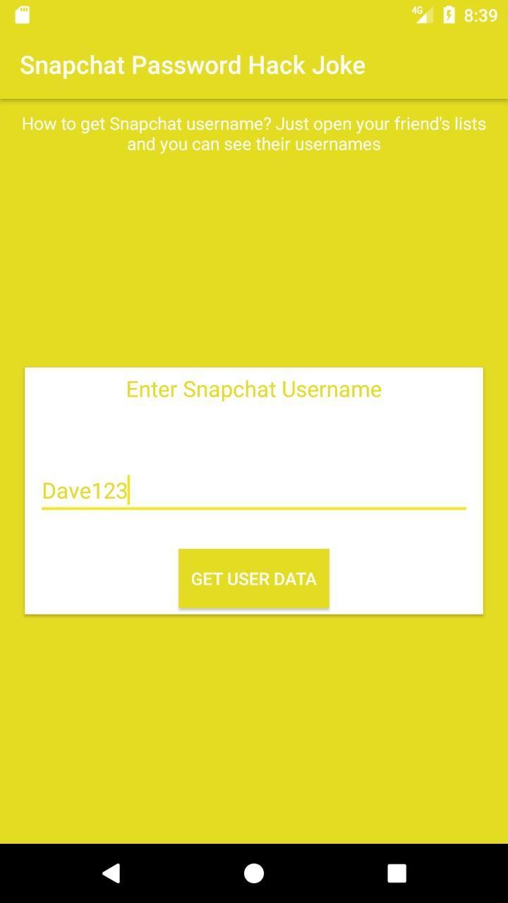 Password Hack سناب شات For Android Apk Download