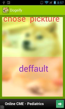 Dogeify- Custom Doge GREEN poster