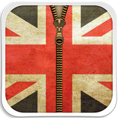 UK Flag Zipper Lock Screen icon