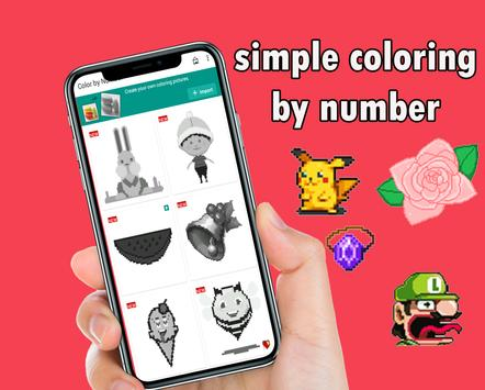 free coloring by number pixel sandbox poster
