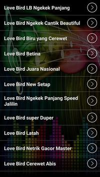 Bird Love Bird's voice apk screenshot