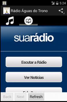 Rádio Águas do Trono screenshot 1