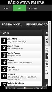 Rádio Ativa FM 87.9 screenshot 7