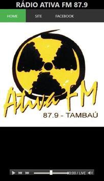 Rádio Ativa FM 87.9 poster