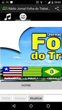 Rádio Jornal Folha do Trabalho apk screenshot