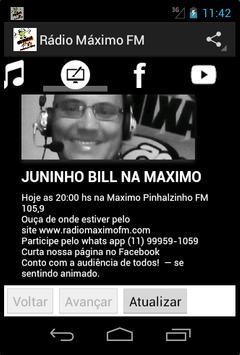 Rádio Máximo FM screenshot 5