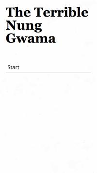 The Terrible Nung Gwama poster