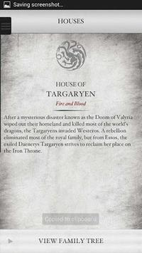 Game of Thrones Companion apk screenshot