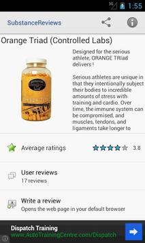 Supplement Reviews for Android apk screenshot